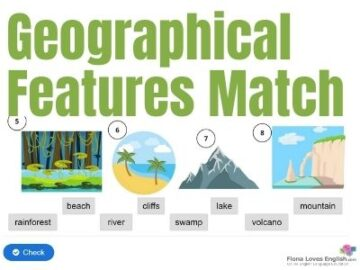 8 Geographical Features Match