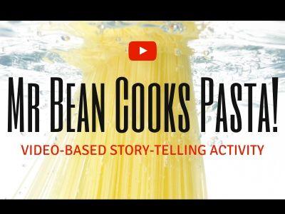 Mr Bean Cooks Pasta