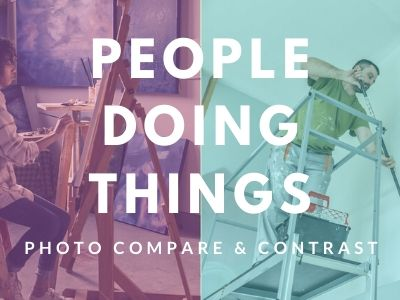 Photo Compare 1 - People Doing Things