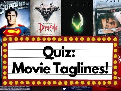 Quiz: Movie Taglines